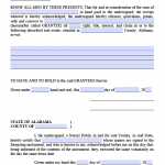 Alabama Deed Forms - Quit Claim - Warranty - Special Archives ...