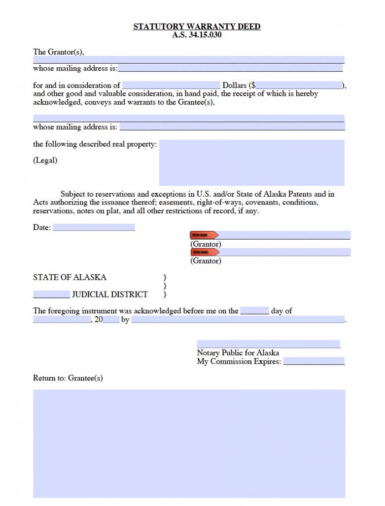 Alaska General Warranty Deed